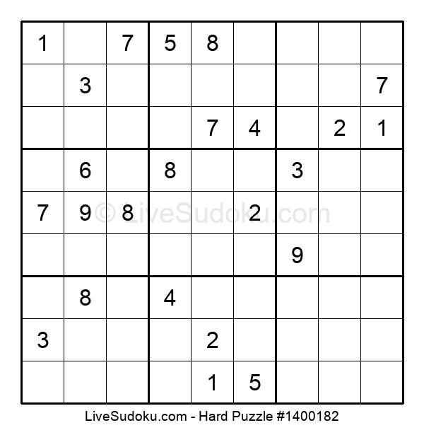 Hard Puzzle #1400182