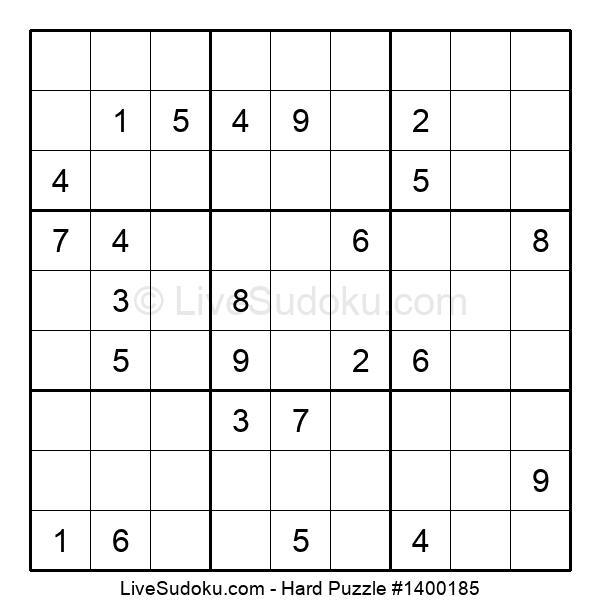 Hard Puzzle #1400185