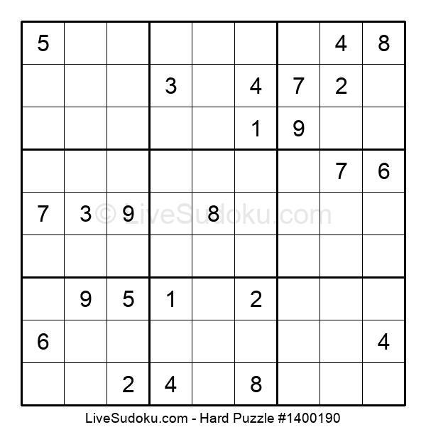 Hard Puzzle #1400190