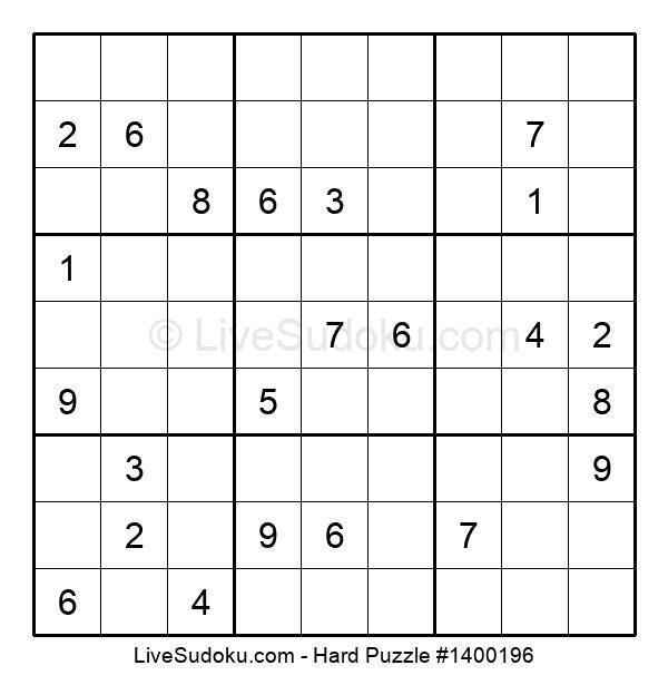 Hard Puzzle #1400196