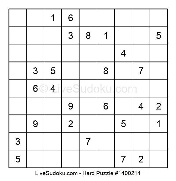 Hard Puzzle #1400214