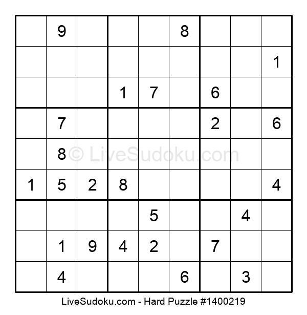 Hard Puzzle #1400219
