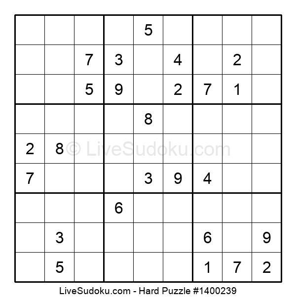 Hard Puzzle #1400239