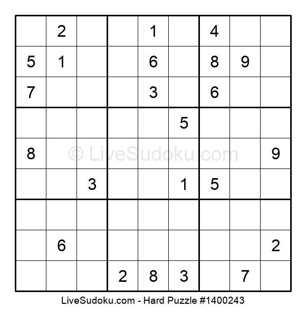 Hard Puzzle #1400243