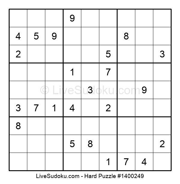 Hard Puzzle #1400249
