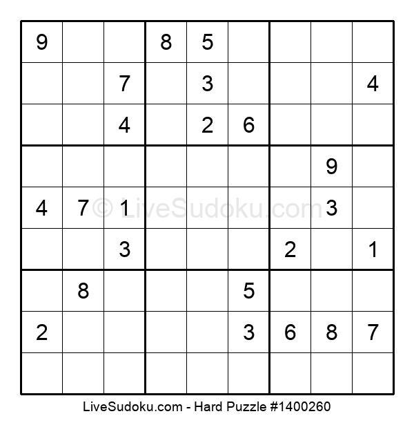 Hard Puzzle #1400260
