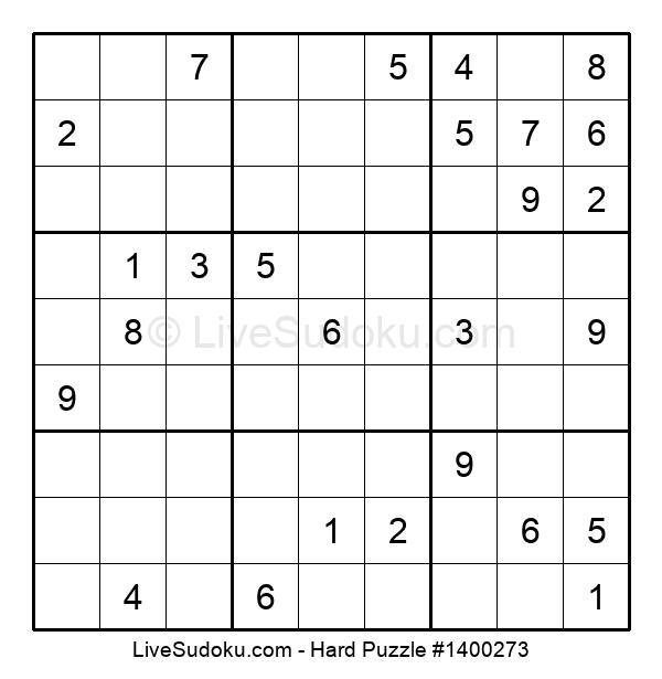 Hard Puzzle #1400273
