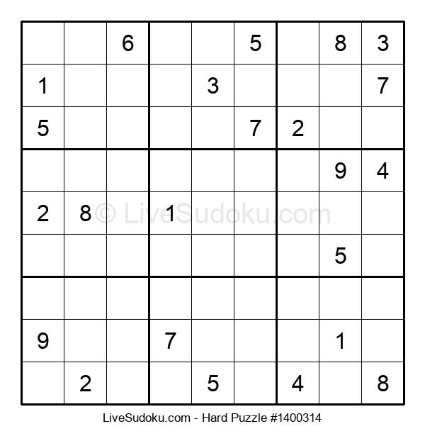 Hard Puzzle #1400314