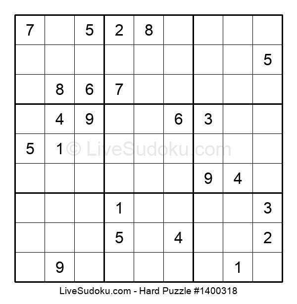 Hard Puzzle #1400318