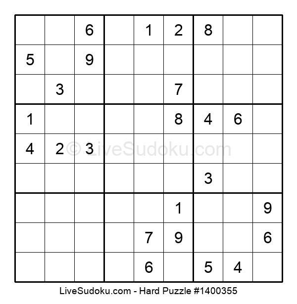 Hard Puzzle #1400355