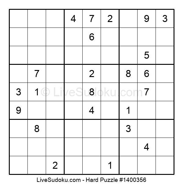 Hard Puzzle #1400356