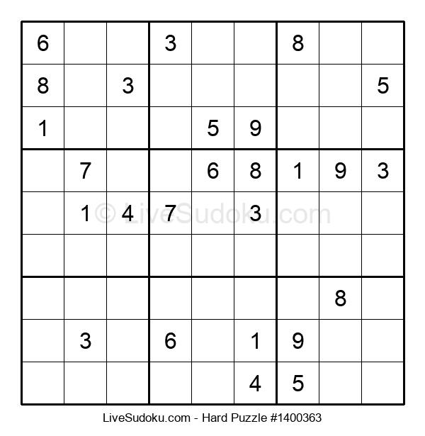 Hard Puzzle #1400363