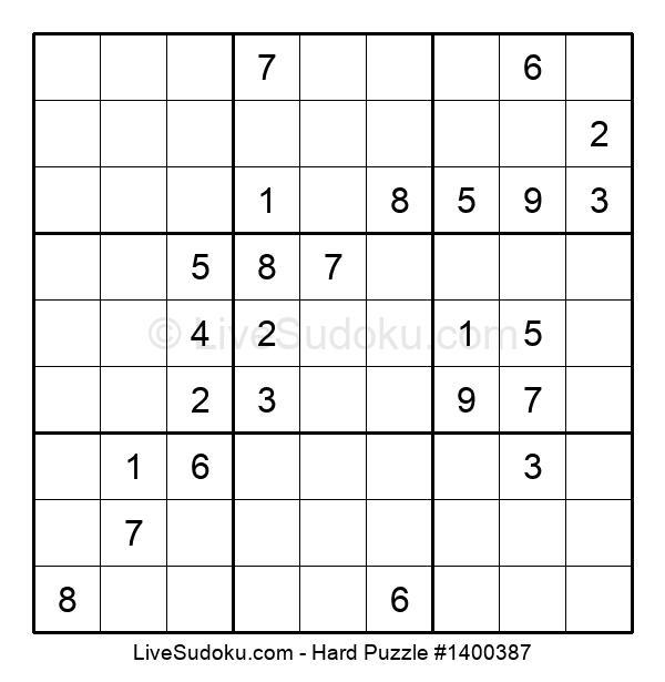 Hard Puzzle #1400387