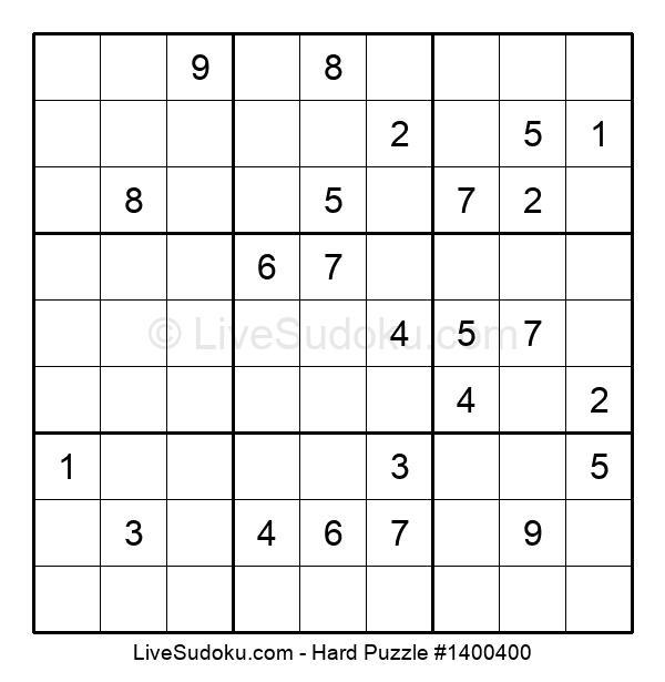 Hard Puzzle #1400400
