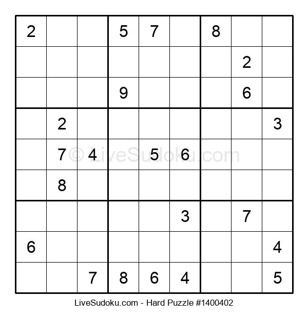 Hard Puzzle #1400402