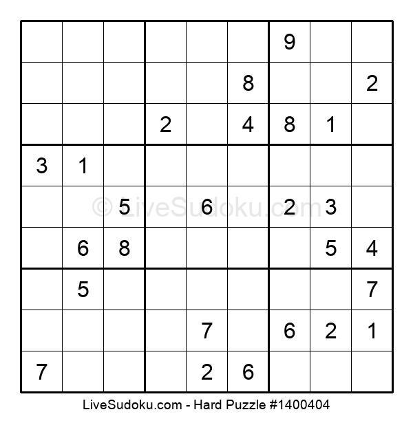 Hard Puzzle #1400404