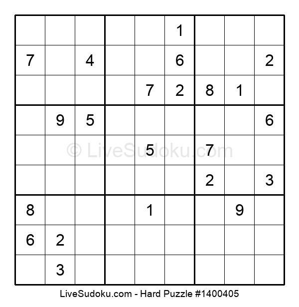 Hard Puzzle #1400405
