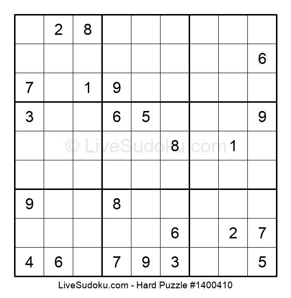 Hard Puzzle #1400410