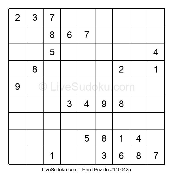 Hard Puzzle #1400425