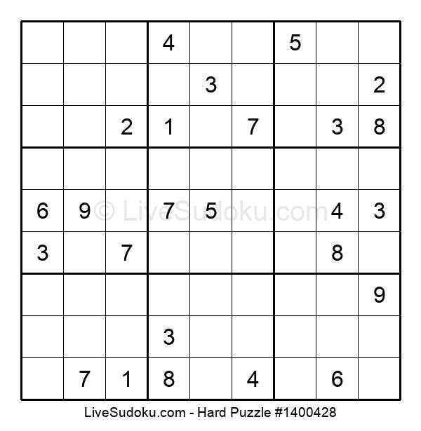 Hard Puzzle #1400428