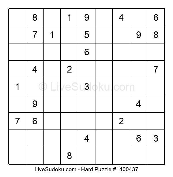 Hard Puzzle #1400437