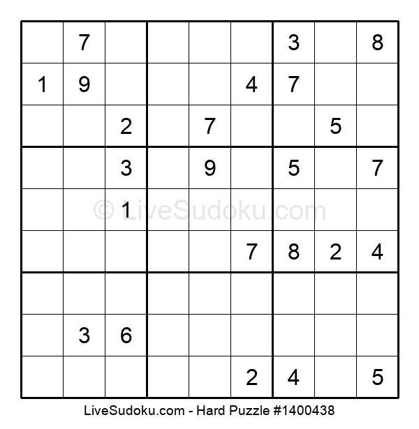 Hard Puzzle #1400438