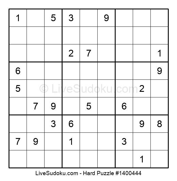Hard Puzzle #1400444