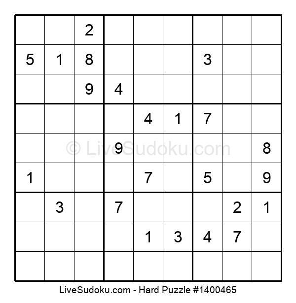 Hard Puzzle #1400465