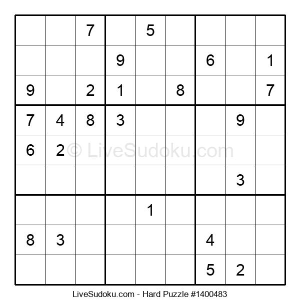 Hard Puzzle #1400483