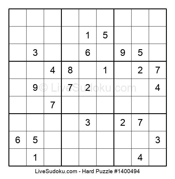 Hard Puzzle #1400494