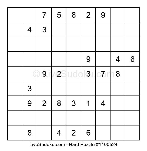 Hard Puzzle #1400524