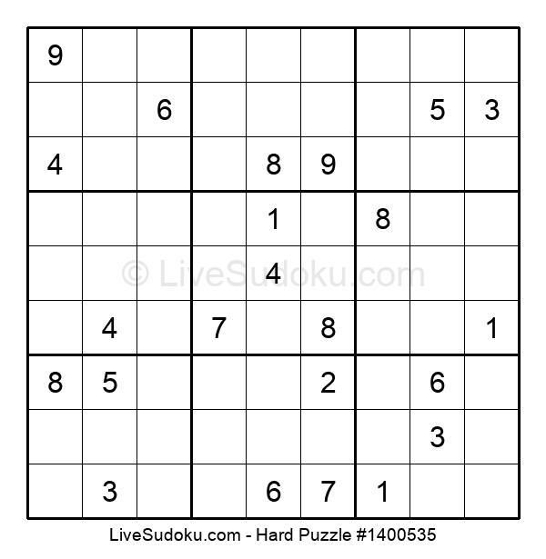 Hard Puzzle #1400535