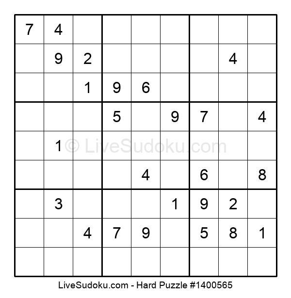 Hard Puzzle #1400565