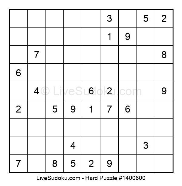 Hard Puzzle #1400600