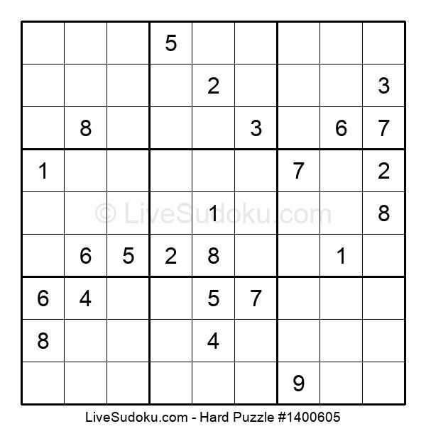 Hard Puzzle #1400605