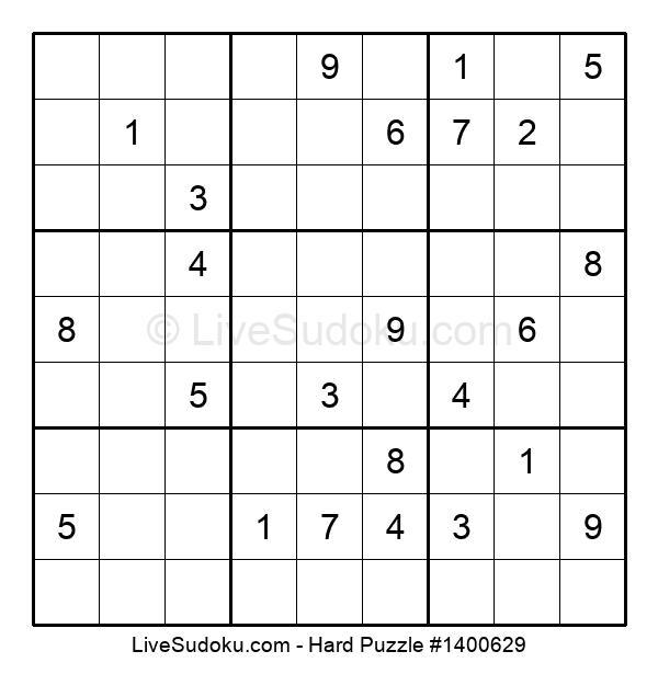 Hard Puzzle #1400629