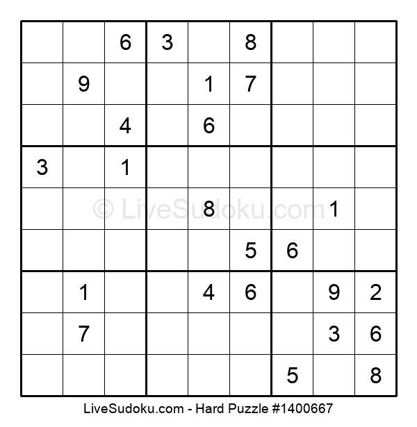 Hard Puzzle #1400667