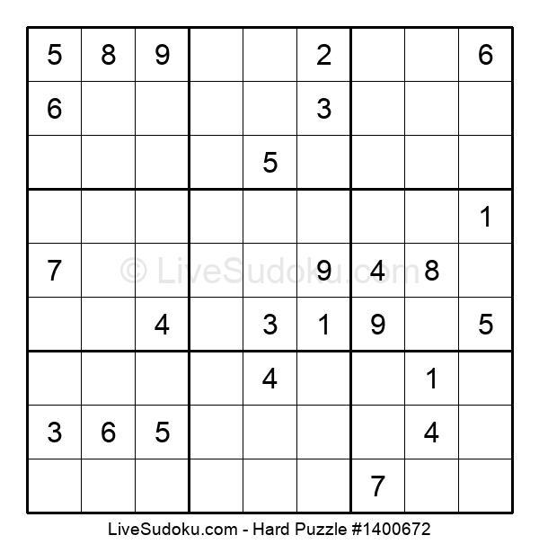 Hard Puzzle #1400672