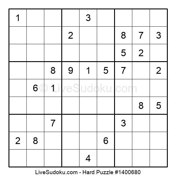 Hard Puzzle #1400680