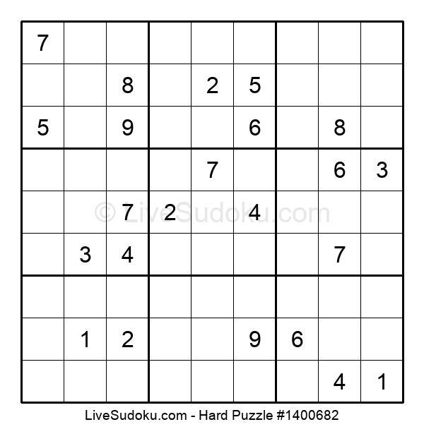 Hard Puzzle #1400682