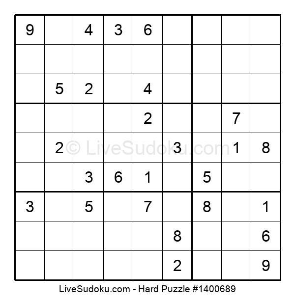 Hard Puzzle #1400689