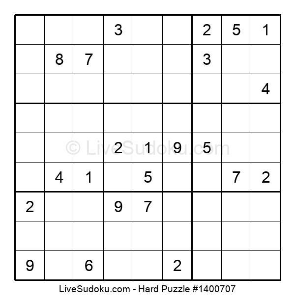 Hard Puzzle #1400707