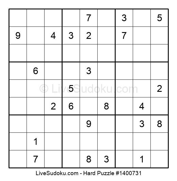 Hard Puzzle #1400731