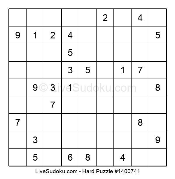 Hard Puzzle #1400741