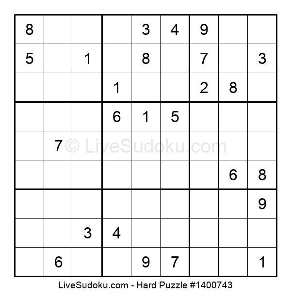 Hard Puzzle #1400743