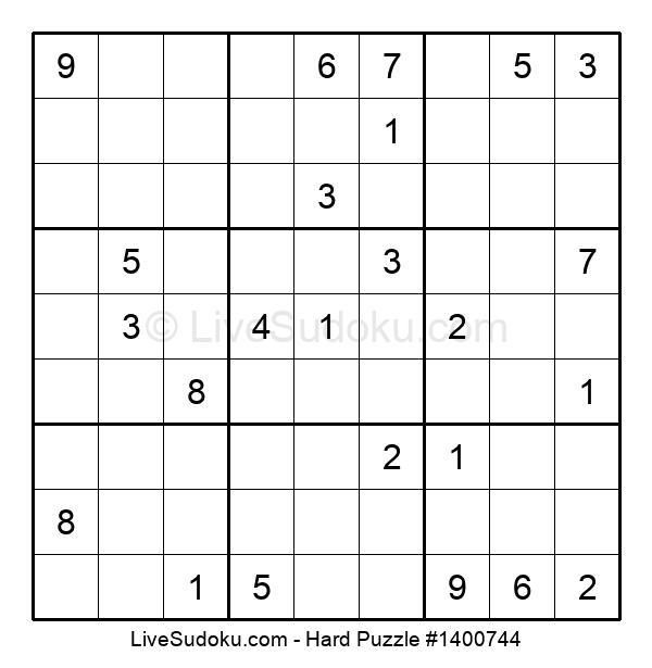 Hard Puzzle #1400744