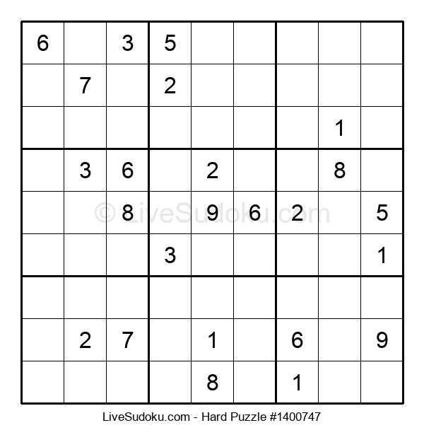 Hard Puzzle #1400747