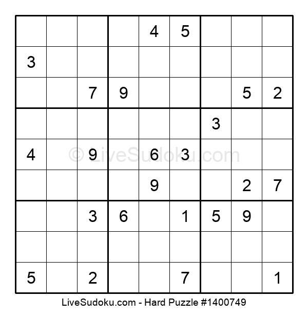 Hard Puzzle #1400749