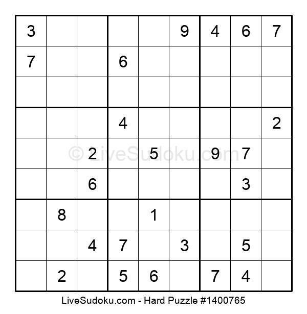 Hard Puzzle #1400765
