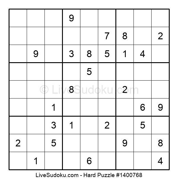 Hard Puzzle #1400768